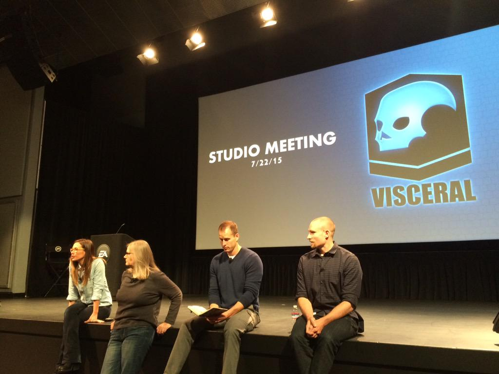 Our first team meeting with @ibjade here at @VisceralGames. http://t.co/pbKeOzIHoz