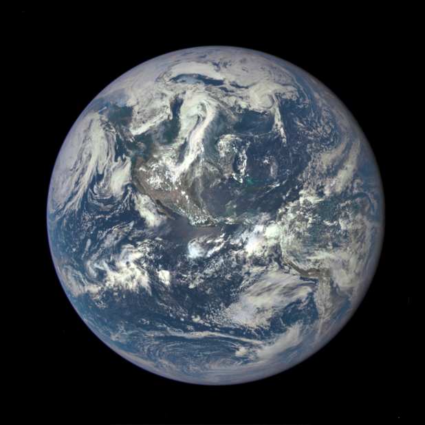 DSCOVR's first image taken from L1 was released Monday! Congratulations to all those who made this happen! http://t.co/9dFXLPizms
