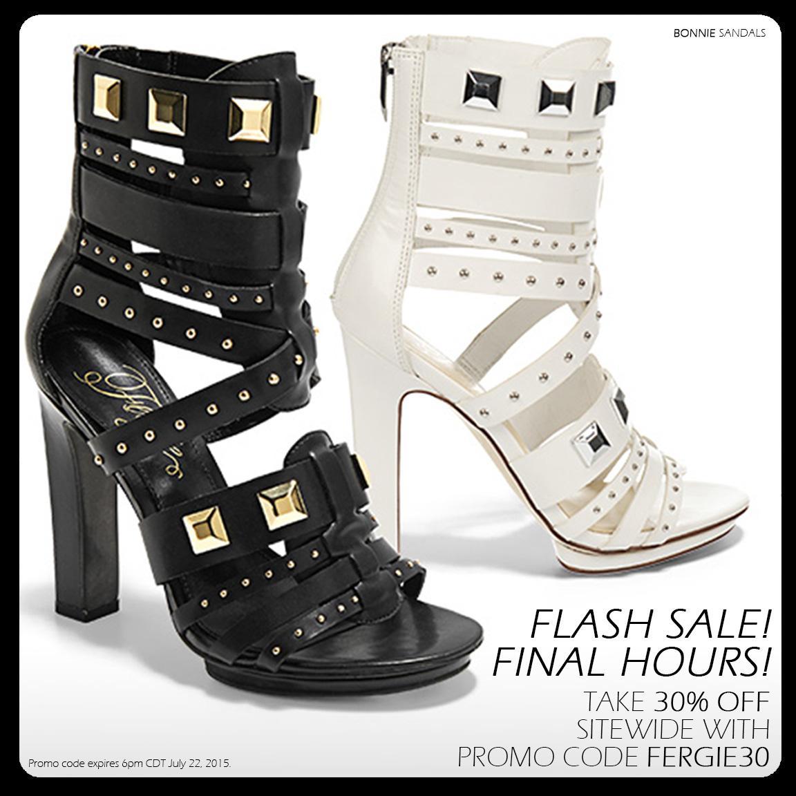 RT @FergieFootwear: ????⌛ #FlashSale! 30% OFF #Fergie #shoes sitewide w/ #promocode FERGIE30 til 6pm CDT.???????? #shoesale http://t.co/Xcjl6dMJrG h…