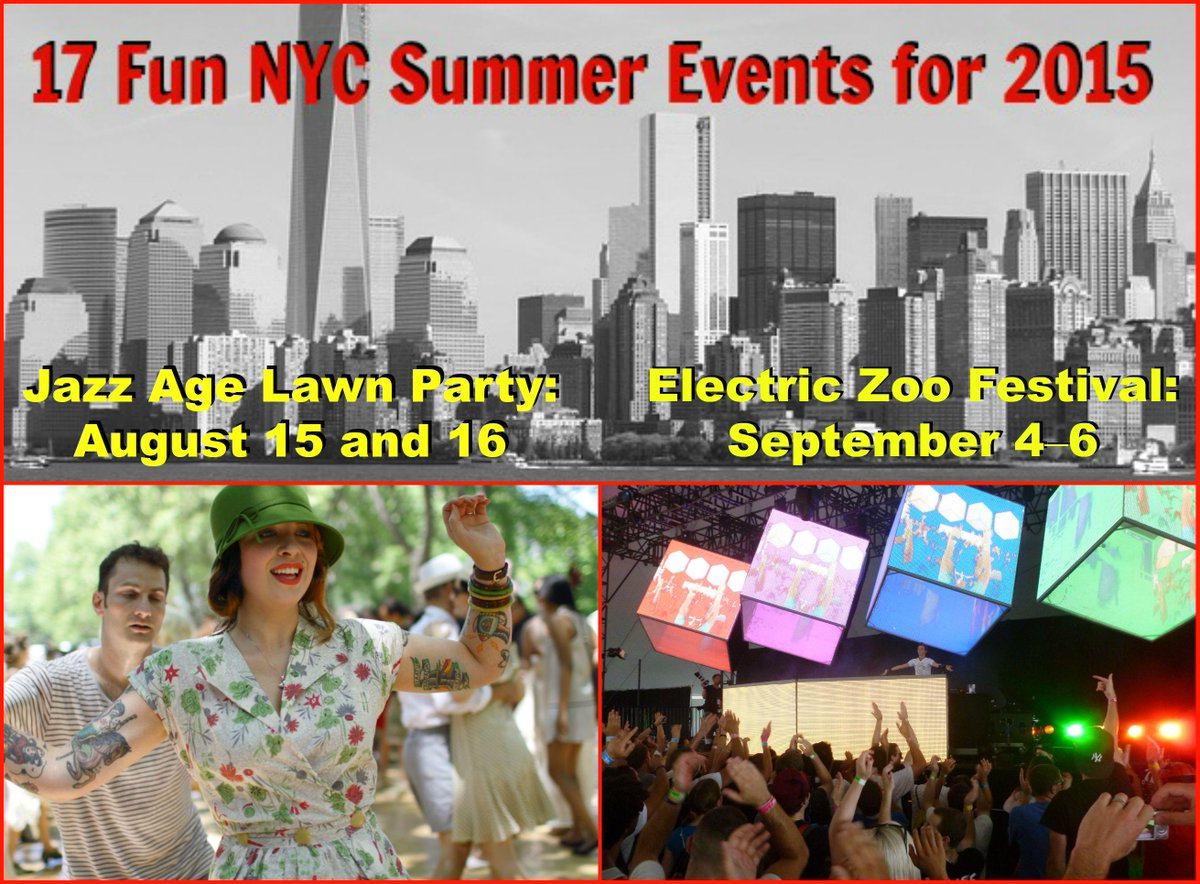 Don't miss out on these #summer events in #NYC like @jazzagenyc & @ElectricZooNY http://t.co/N0RUzcC4pi ☀
