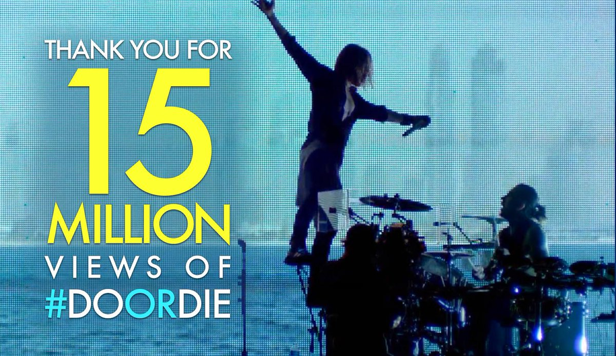 RT @30SECONDSTOMARS: THANK YOU for another MARS Milestone: 15 MILLION VIEWS of #DoOrDie! → http://t.co/eeJT7nizs0 http://t.co/77HwjucTC8