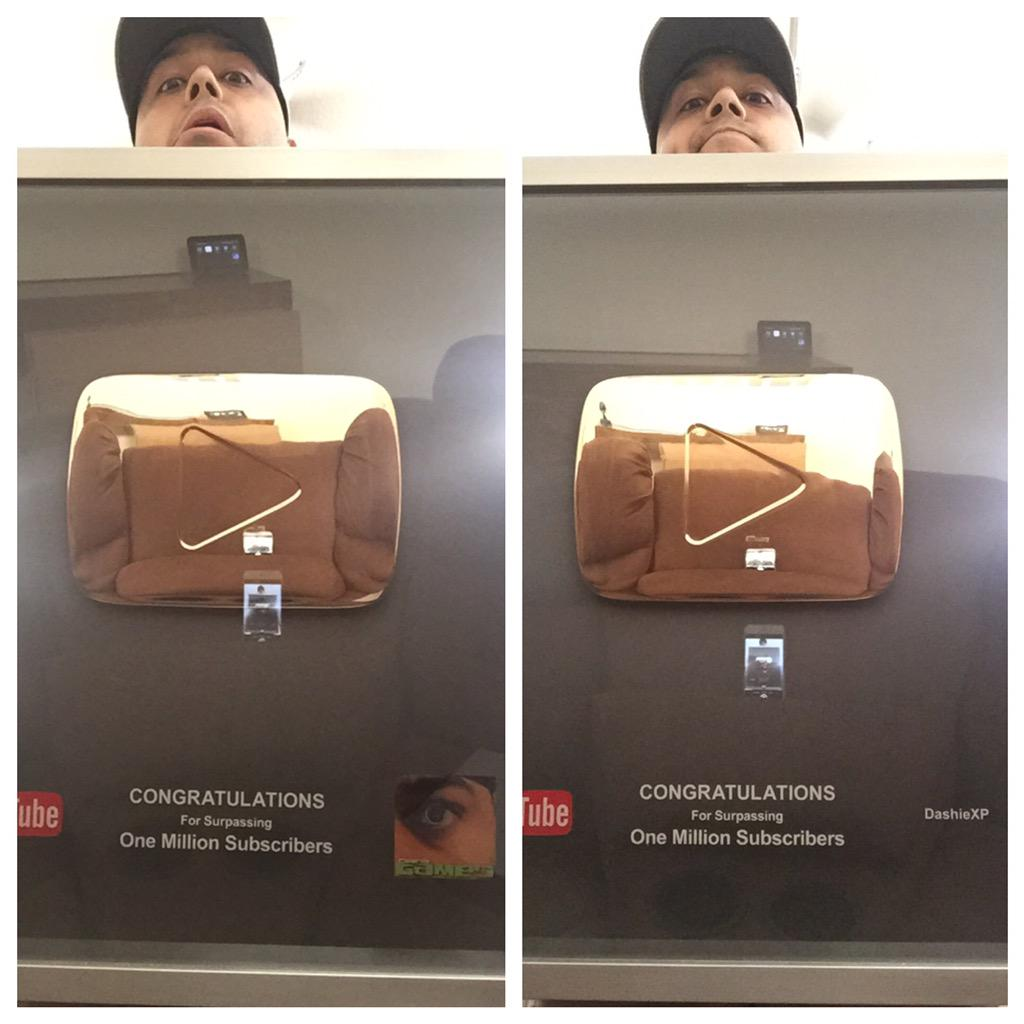 DashieXP (@DashieXP): This is so dope! All because of you guys subscribing and sticking around with my crazy ass! Thank you! http://t.co/o56RMnwAYC