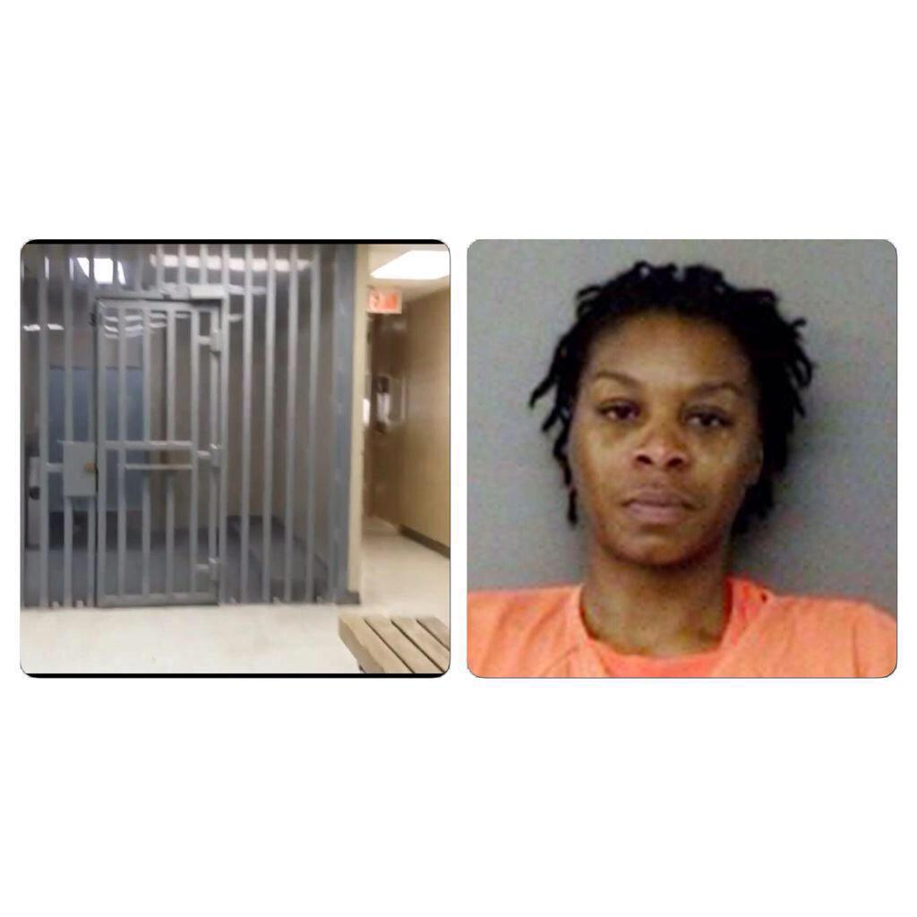 I'm confused, was this mugshot taken on the prison cell floor? She looks lifeless #SandraBland http://t.co/CWA7JY7ovv