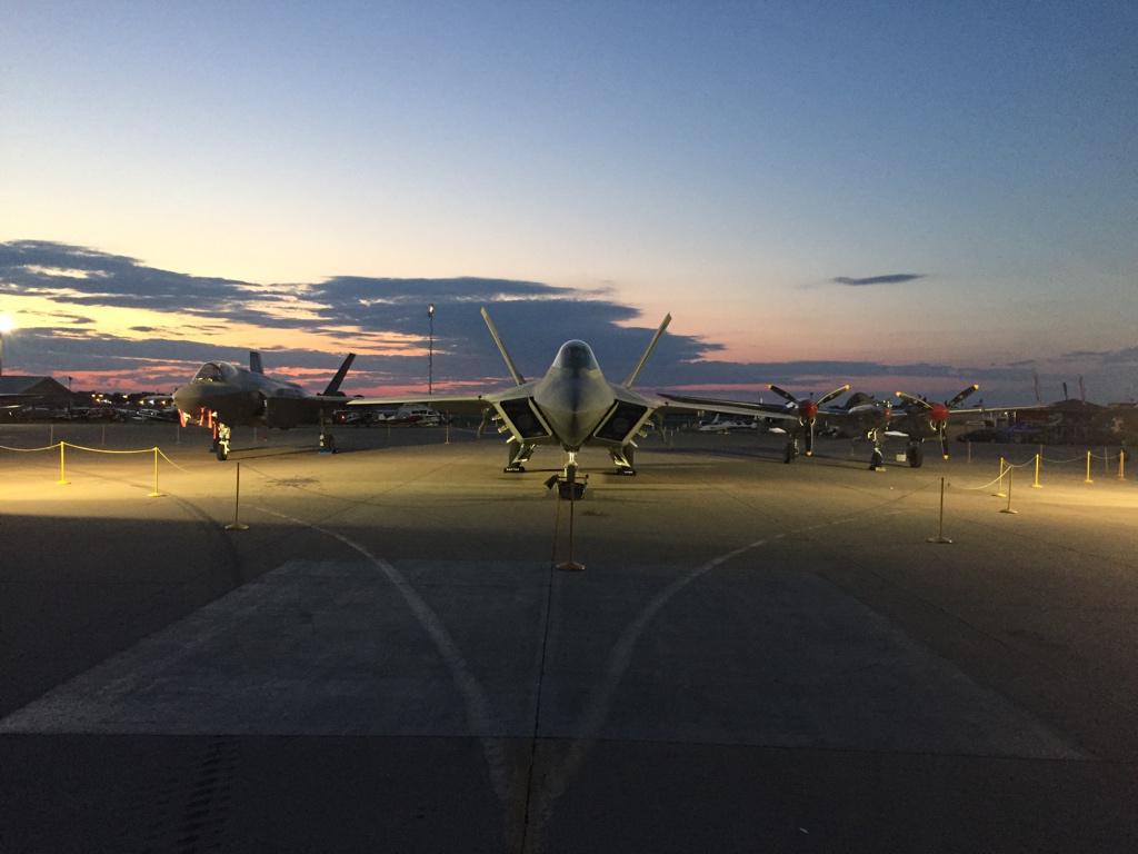 Lightning, Raptor, Lighting. #DawnPatrol #OSH15 http://t.co/nD9e8sCNex