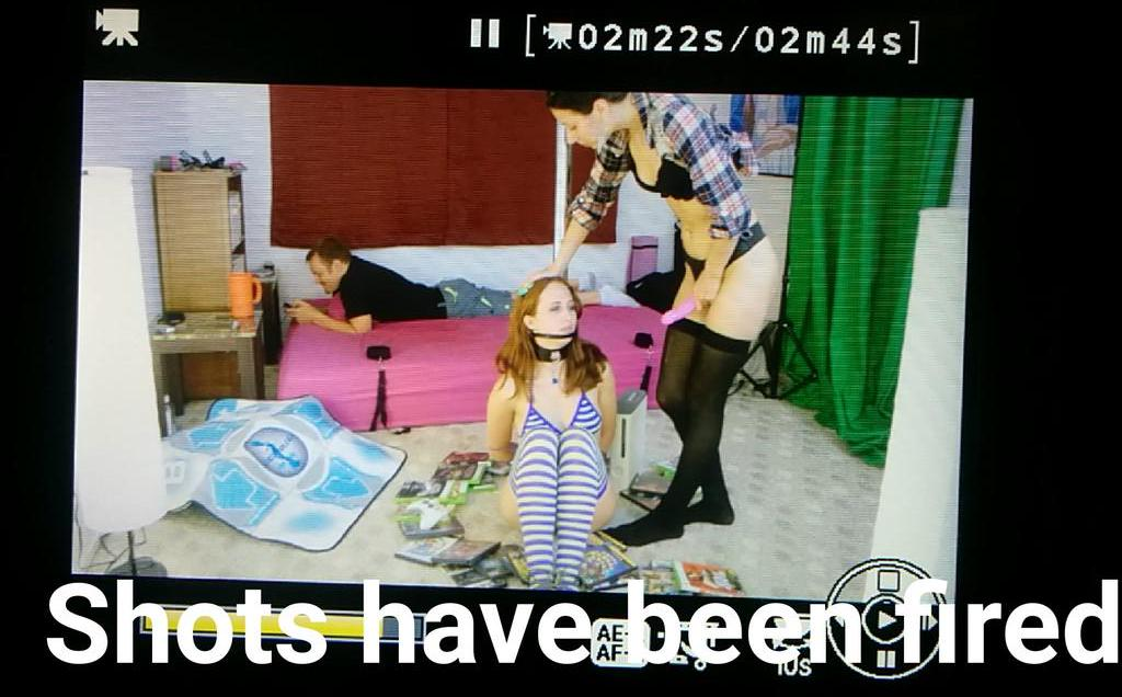 GameHerGate(TM) first scene has been filmed! ?? #GamerGate #GGinPorn #EthicsInPornoulism #TropesVSWomen