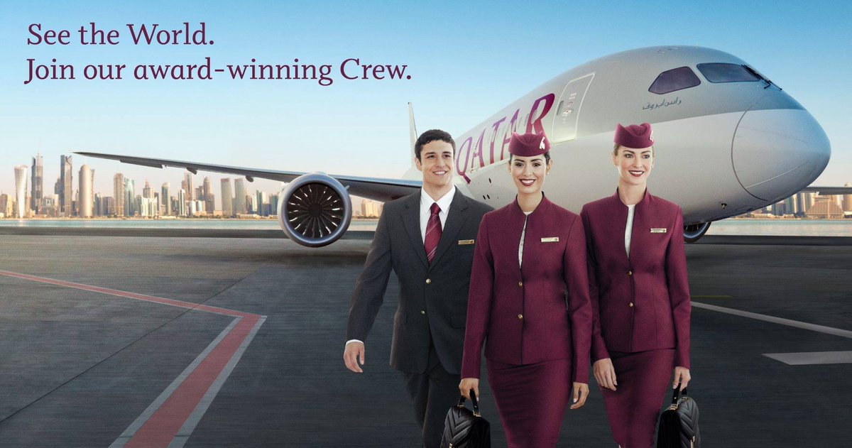 Interested in a career in aviation with QatarAirways? We are hiring experienced cabin crew.