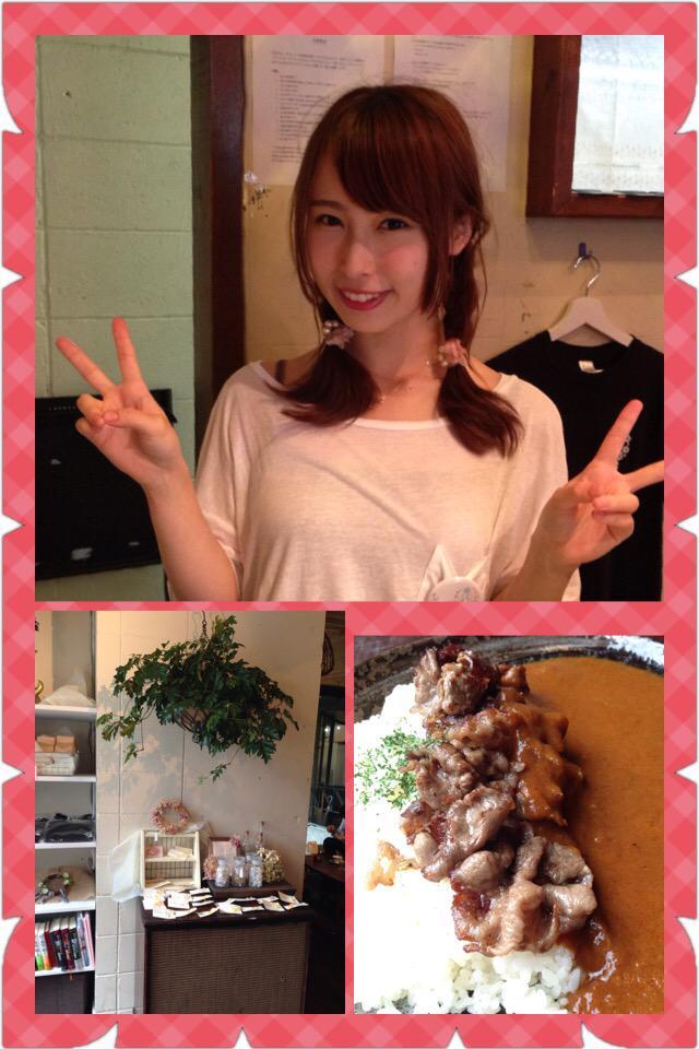 今日、生放送前に友人からめっちゃ素敵なカフェあるでーと連れて行ってもらった心斎橋にあるsaq*cafe☆柔らかい雰囲気の素敵なカフェのオーナーは島田玲奈ちゃん。NMB48卒業後、つい先日カフェをオープンさせたのです☆いやー、可愛いっ☆ http://t.co/2sLwgZvWSU