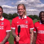 RT @BBCSporf: VIDEO: @CAFCofficial players next punishment to perform the national anthem! #PlayerPledge!..http://t.co/nb6tFK8ikZ