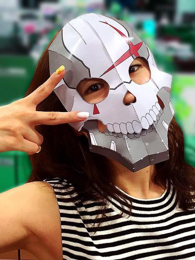【プレゼント】お待たせしました「怪人二十面相」マスクのペーパークラフトの無料ダウンロード配布を開始しました。貴方も怪人二