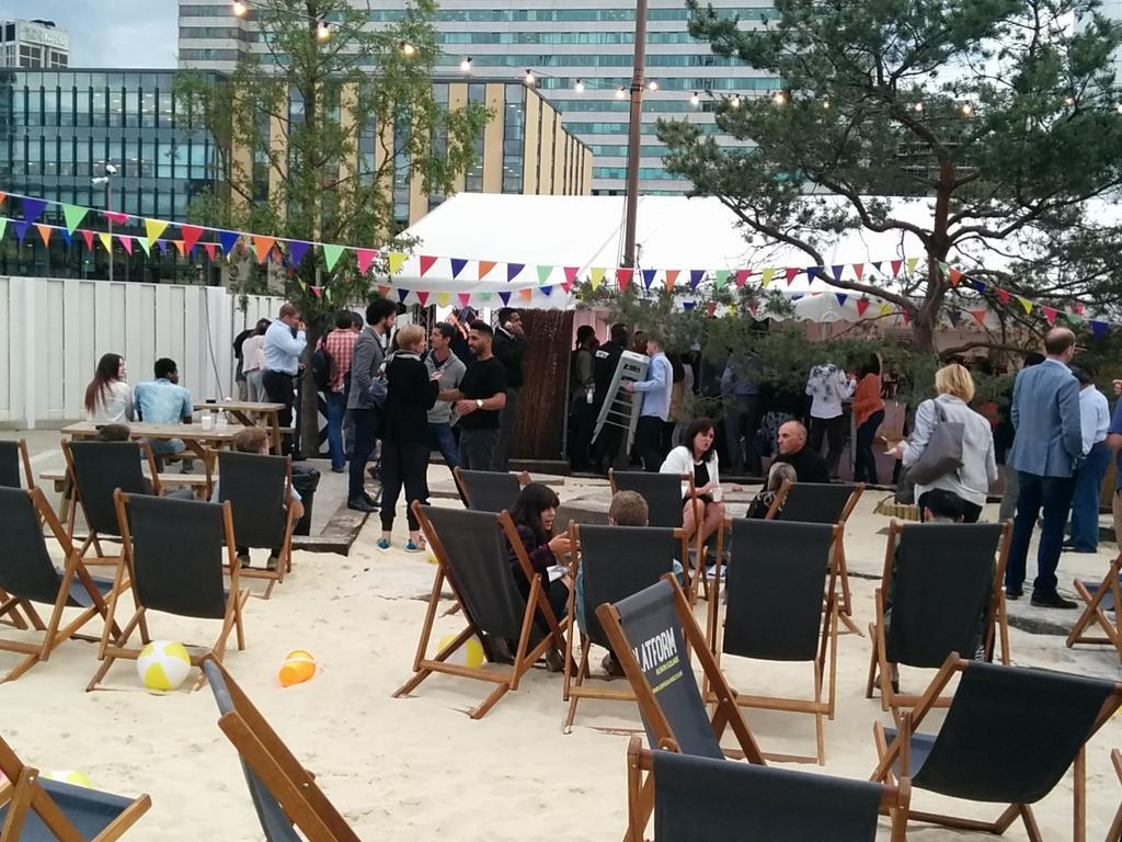 At the @BoxparkCroydon launch. I've never seen Ruskin Square look like this! http://t.co/9SILWMfWRs
