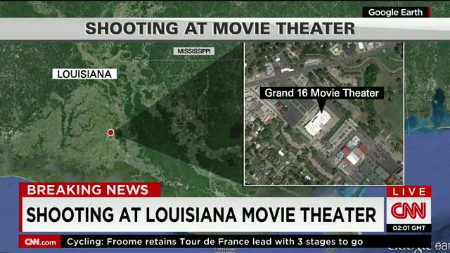 map shows location of lafayette movie theater shooting latest right now cnntonight. Black Bedroom Furniture Sets. Home Design Ideas