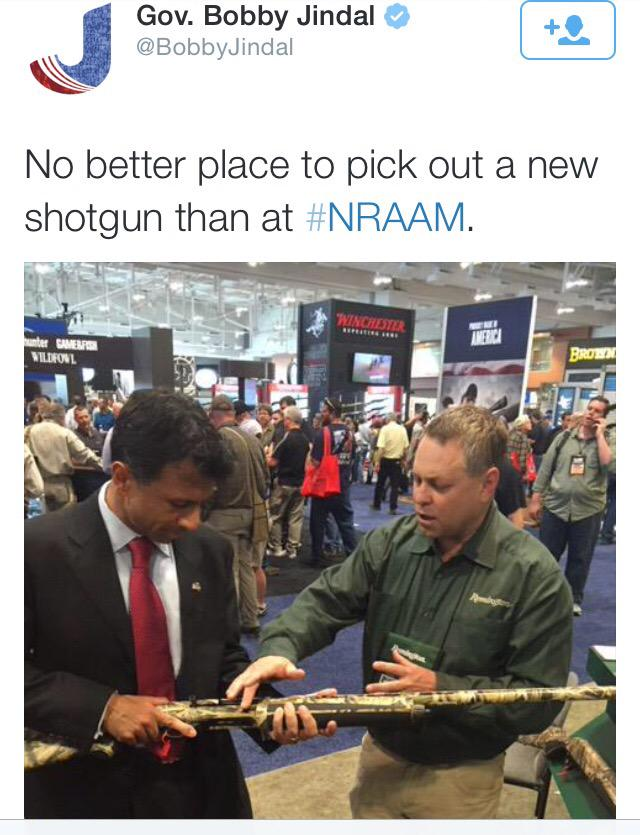 #gunsense RT @TUSK81: .@BobbyJindal JUST CAN'T UNDERSTAND where all this senseless violence comes from. #Lafayette http://t.co/ck0HiHnvCG