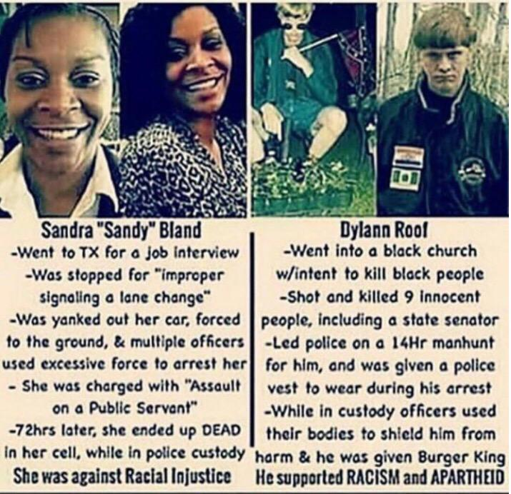 Most disturbing story I've heard in a while. This country & our government are often so disappointing #RIPSandraBland http://t.co/Po0t4RMY9Z