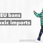 RT @Greenpeace: Yes! In 2011 we found these chemicals in 2/3 of clothes. Now the EU is banning them http://t.co/W8MykE4TW1 #detox