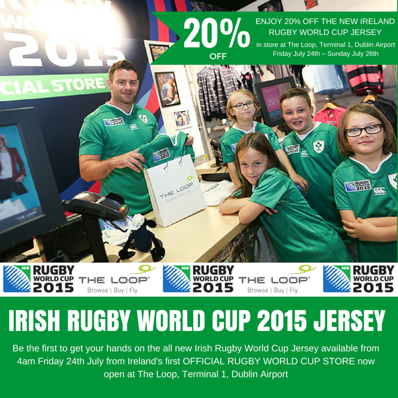 RT @TheLoopDutyFree: 20% discount off the new Irish RugbyWorldCup jersey - in store & online!