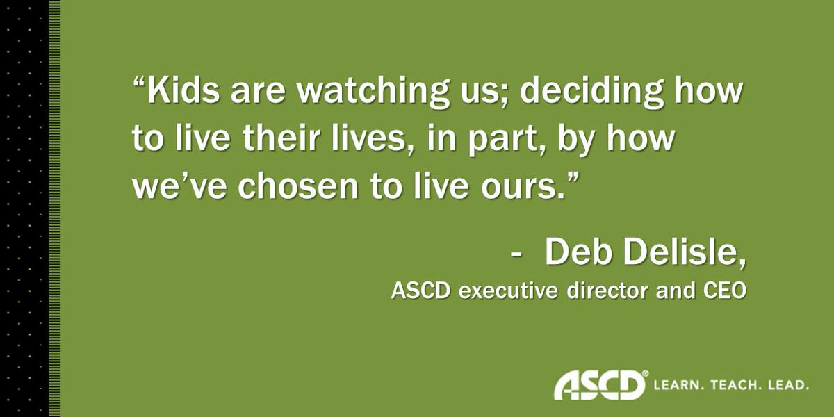 """""""I can't honor enough the work that educators do every single day."""" - @DebDelisle #ASCDL2L http://t.co/XDAy8FZ9Zb"""