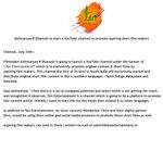 RT @FoxtelMovieBox: All the best #AishwaryaDhanush for  your new venture #TenEntertainment @ash_r_dhanush :)