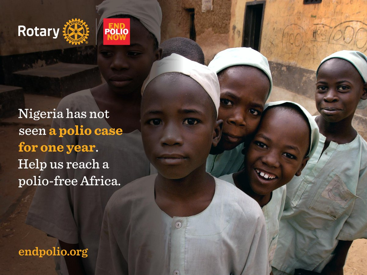 Today marks one year without a case of polio in #Nigeria. Together, we can create a polio-free world. #endpolio http://t.co/h8PZ2FhGtS