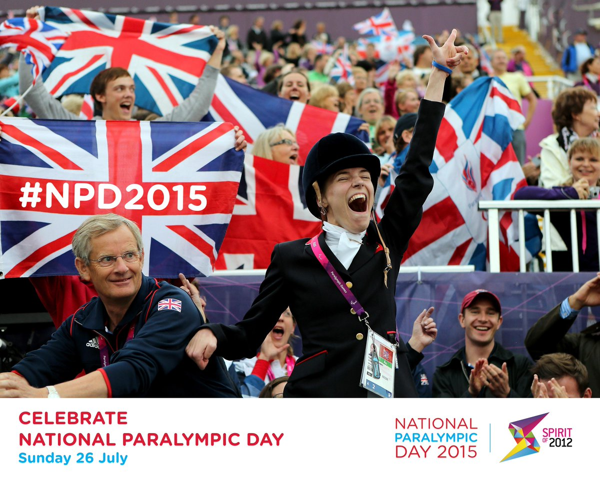 Happy National Paralympic Day, everyone!   RT to show your support for Paralympic sport in the UK. #NPD2015 http://t.co/4tRbqTYgdg