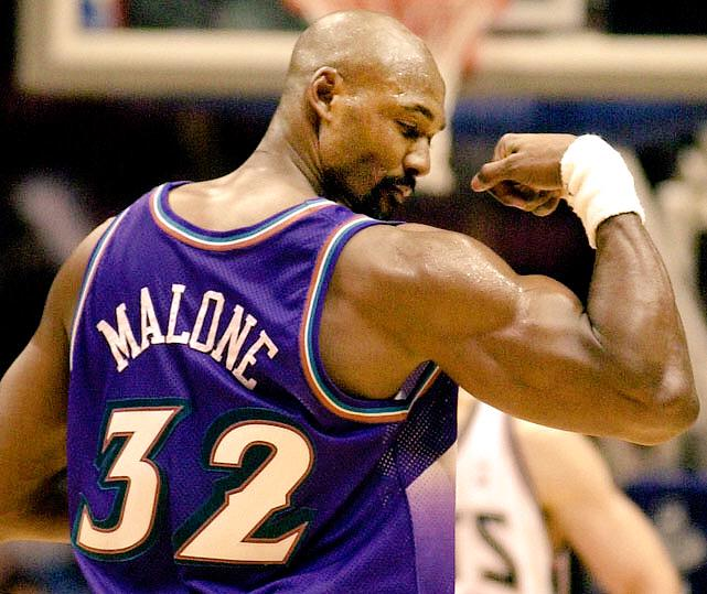 Karl Malone is the only player to have an emoji created after him. #MailmanBirthday