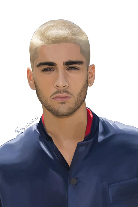 Finished my painting of Zayn and I'm really proud of it. Hope he sees. @zaynmalik x. http://t.co/VxJDrUS1EK