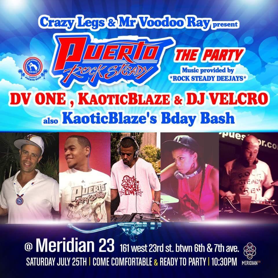 2nite #PuertoRockSteady *The Party* Roll Call @CrazyLegsRSC @dvone @KaoticBlaze @velcromc @MrVoodooRay @meridian23 http://t.co/ZnEbsSb9g4