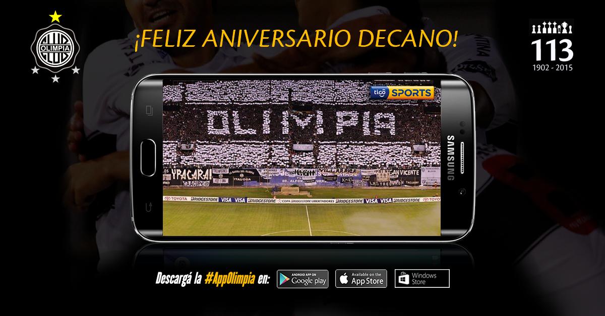 ¡Feliz aniversario al glorioso @elClubOlimpia!