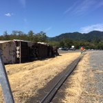 Overturned semi truck on Interstate 5 near Rogue River. More details to come. @KDRV http://t.co/IkTpxLTUNe