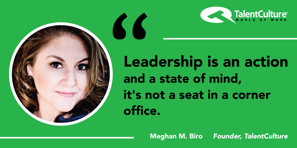 #Leadership is an action and a state of mind, it's not a seat in a corner office. @MeghanMBiro #socialbusiness #HR http://t.co/wvEHxqbntg