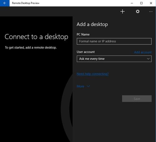 New Preview: Remote Desktop Universal App for #Windows10 http://t.co/M3RJuztN5R http://t.co/6GJqJSb8vz