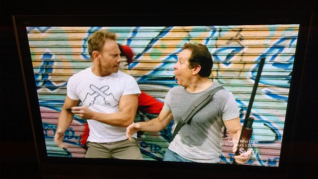"""""""Sorry, I'd love to help you but I have shark problems."""" When #Sharknado meets #Lavalantula. ;-) http://t.co/RPHcRMb2z2"""