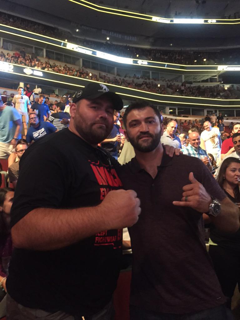 Ran into a old friend at the @UFCONFOX http://t.co/k7xHGWJTqX