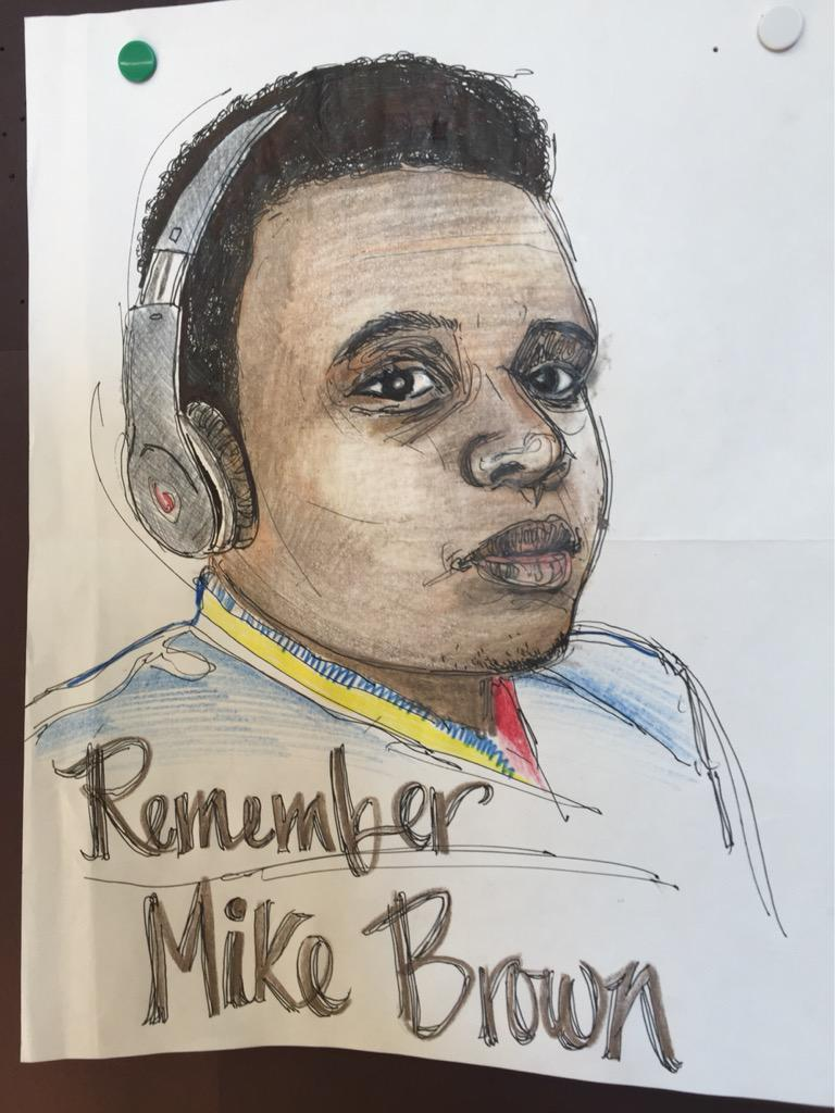 Today I honor a young man who I've never met but has changed my entire life. #MikeBrown http://t.co/MmOxWimTsm