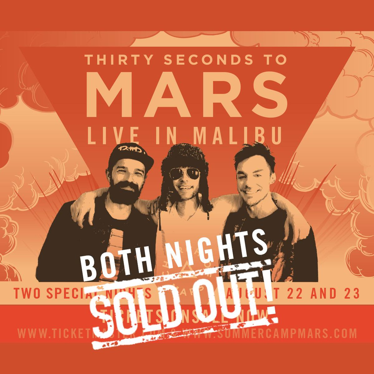 THANK YOU so much for two SOLD OUT Malibu shows!! If you're interested, join us for #CampMars: http://t.co/uhdPT2dSE0 http://t.co/C2G4xuGhAH
