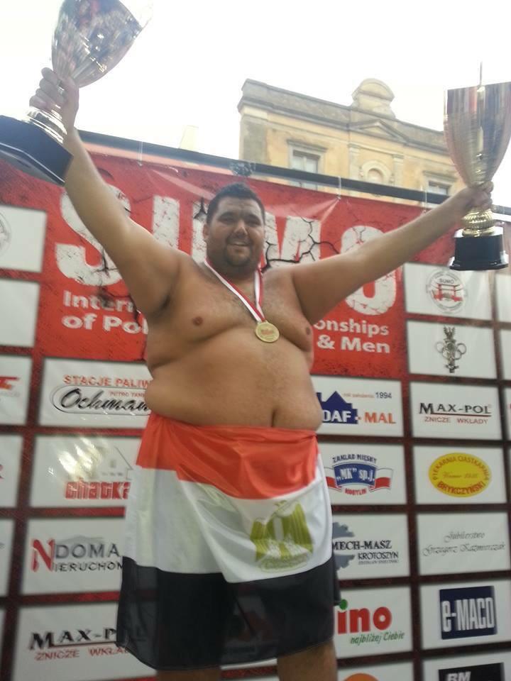 رامي الجزار إبن غزل المحلة .. بطل بطولة أمريكا المفتوحة للسومو