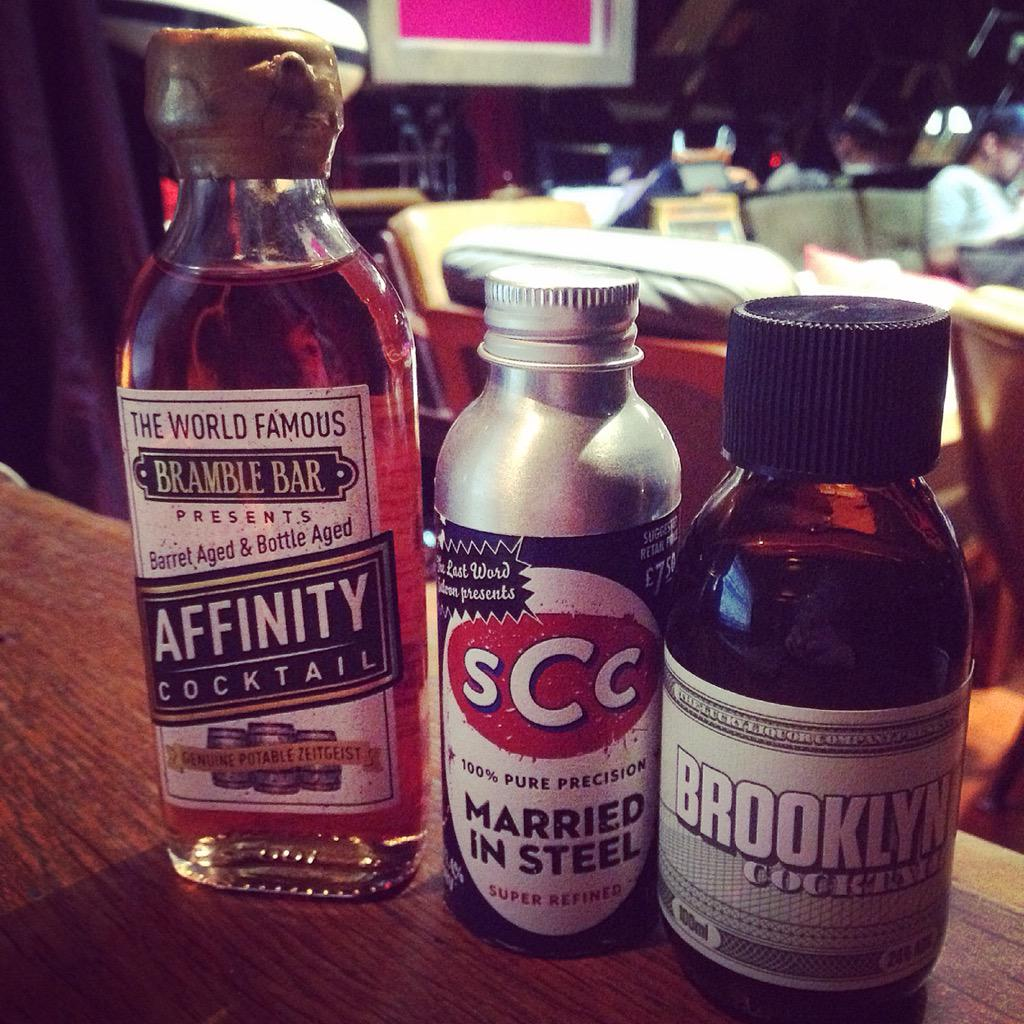 Oops, we should have said, beautiful pre bottled cocktails from @BrambleBar @LuckyLiquorCo and @LastWordSaloon http://t.co/YFUES9GyJO