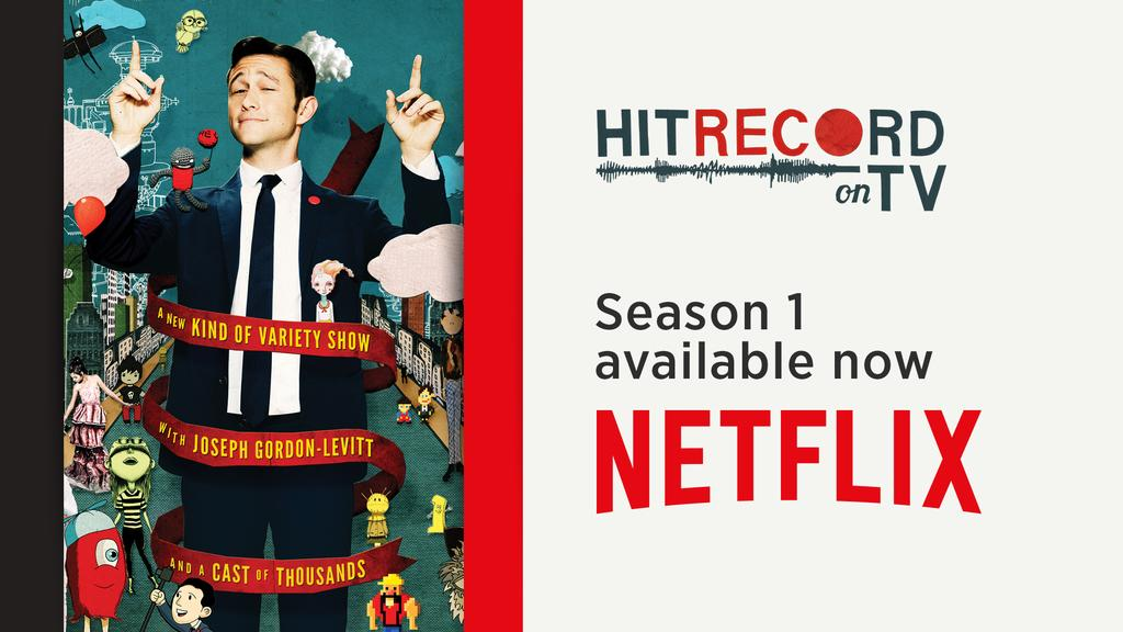 RT @hitRECord: Big news! #HITRECORDonTV is now streaming on @netflix! Let the binge watching begin! :oD http://t.co/dU3wbo1pOk http://t.co/…
