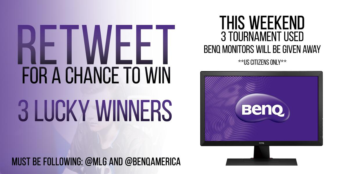 .@BenQAmerica & #MLG are picking 3 winners to win a RL2455HM monitor the pros used! Follow & RT using #BenQ to enter! http://t.co/0HY7OcrVs8