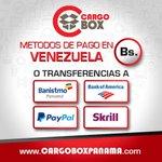 .@CargoBoxPV Casillero Gratis..!! #USA #Panama #Barquisimeto,Varios metodos de pago para tus envios!! http://t.co/mc1sERyfFR