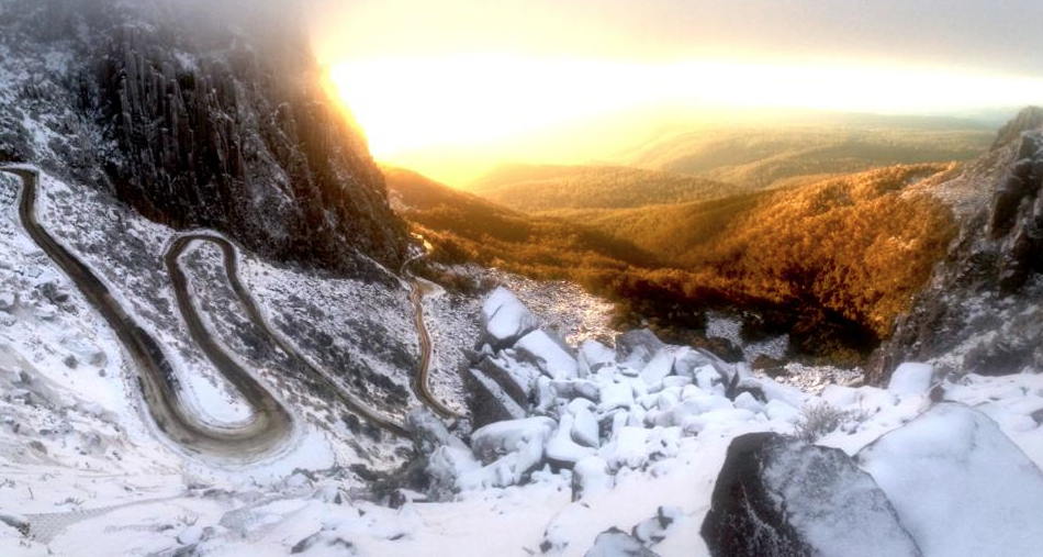 Tasmania in Winter is pretty special. Oh and maybe just a tad chilly! @tasmania #BenLomond http://t.co/Ju3clHdiOd