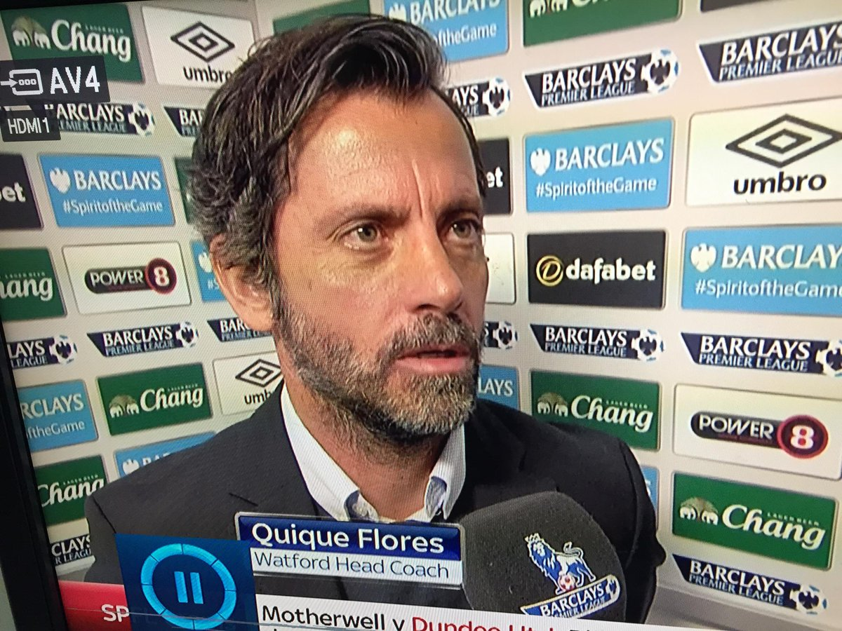New Watford manager Quique Flores looks like a fantastic new character played by @hughlaurie. http://t.co/RP2TiYw8Ar