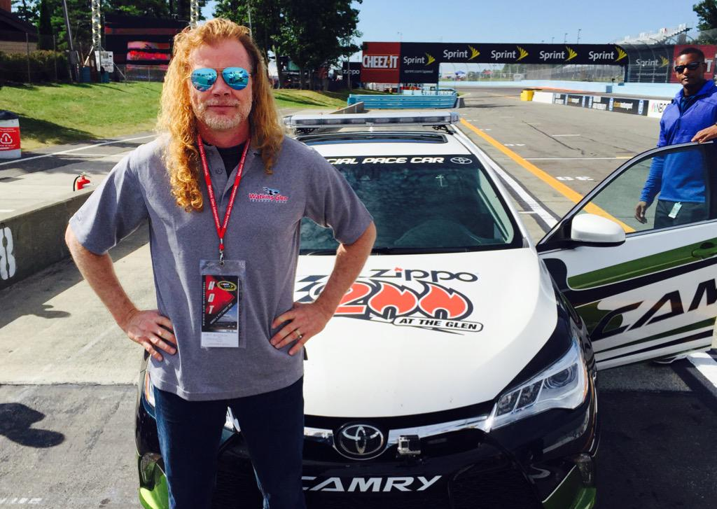 .@DaveMustaine is ready for his pace car training in the @ToyotaRacing Camry! #NASCAR http://t.co/jwLV4Kg7LW