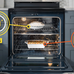 Serving courses at the right time is tough. So we made an oven that bakes two dishes at once. #ProblemSolved
