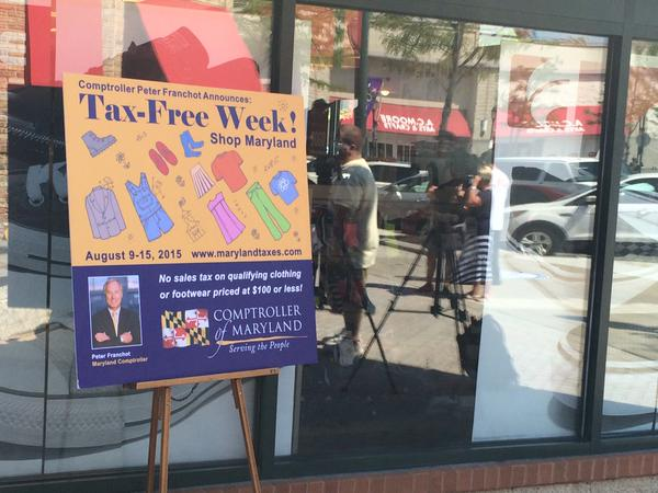 Starting tomorrow! Don't miss tax-free week in MD. Learn more from @mdcomptroller http://t.co/GOt82FR3zg http://t.co/cKXpqFljpP