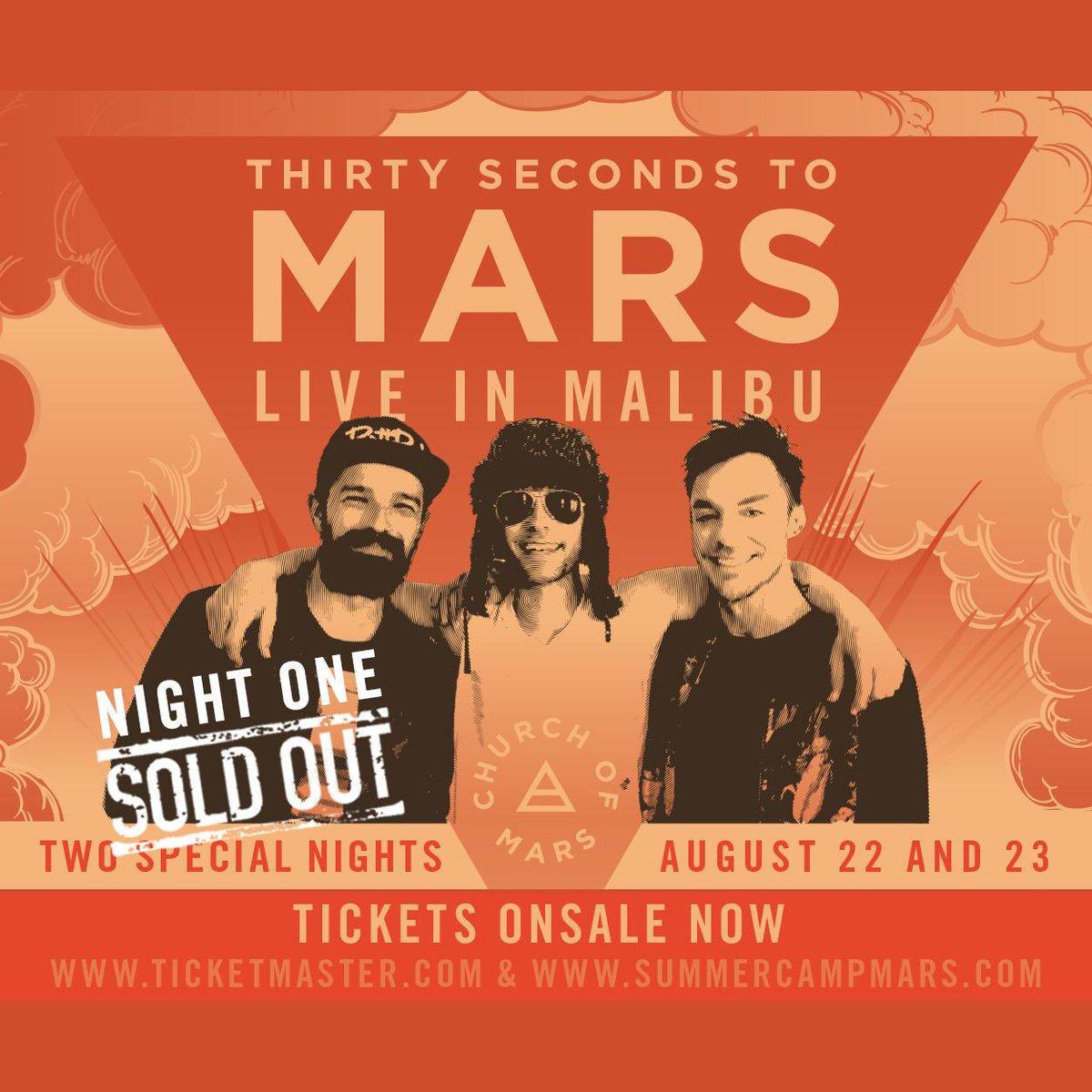 RT @30SECONDSTOMARS: NIGHT 1 SOLD OUT!!! Get tix for NIGHT 2 while they last!!! THANK YOU! → http://t.co/zllEgPaHGa http://t.co/Po3UzOtMOJ