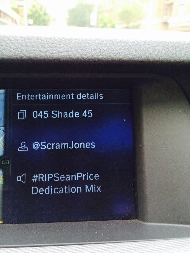 Driving back from Sean's this made the ride a little easier and a lot harder. Thnx @SCRAMJONES @Shade45 that was luv http://t.co/aoZ3BM054Y