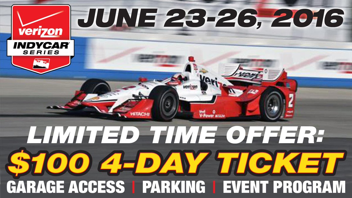 $100 gets you a 4-day ticket, garage access, free parking & program for 2016. #INDYCAR2RA ->  http://t.co/Xb47bVcdBH http://t.co/rVCjBAz69C