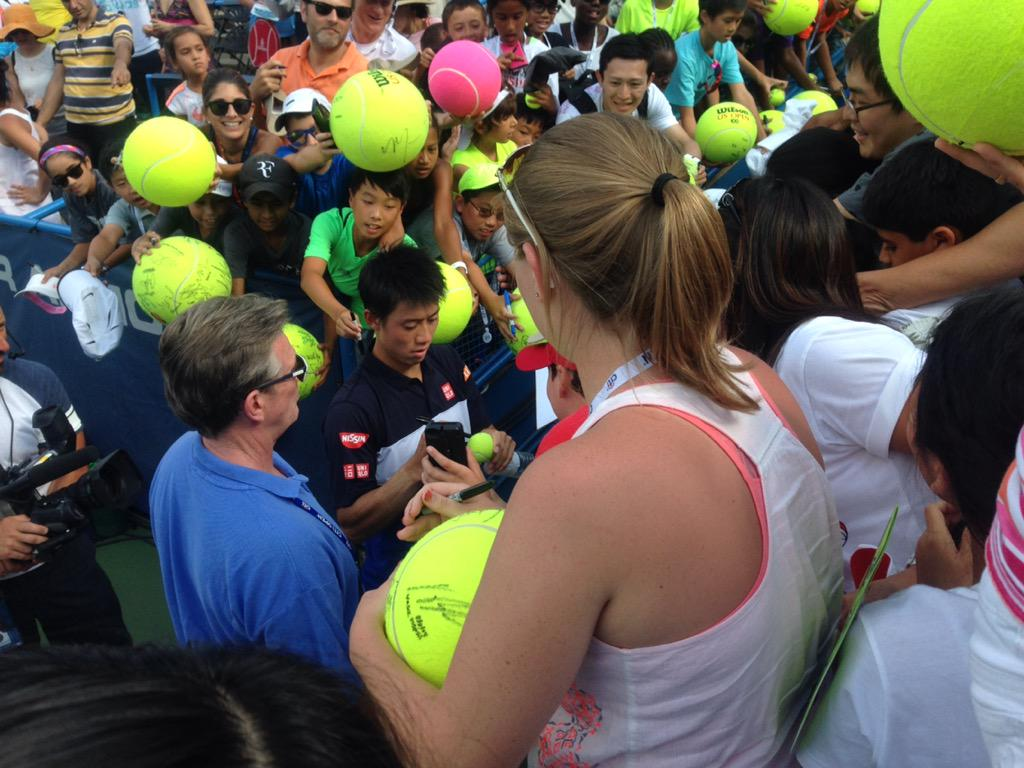 The reward for @keinishikori for advancing to the @CitiOpen final? A sea of giant tennis balls. http://t.co/f0ftSBOwiC