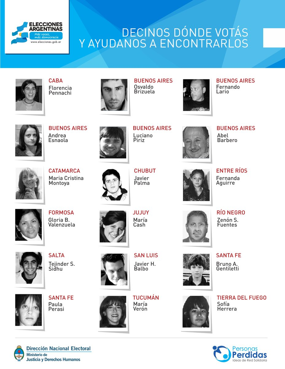 #Elecciones2015 Ayudanos a encontrarlos @HambreCero #PersonasPerdidas. http://t.co/4lnGbPbl3d http://t.co/xWZ1EijvmQ