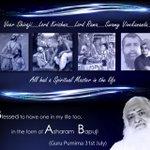 Devotees of Asaram Bapu Ji feel lucky to celebrate Guru Purnima with Pujya Gurudev #MyGuruPurnimaWith_बापूजी . http://t.co/tY2R7ZKQud